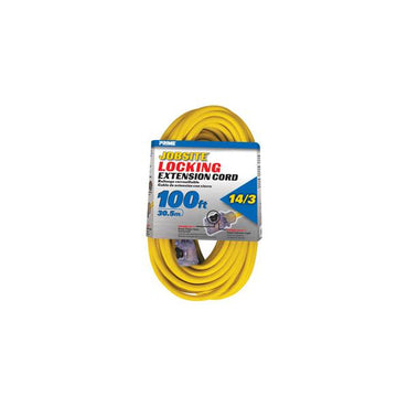 100ft 14/3 SJTW Yellow Cord w/Primelight Õ Â & Primelok Õ Â - Bridge Fasteners
