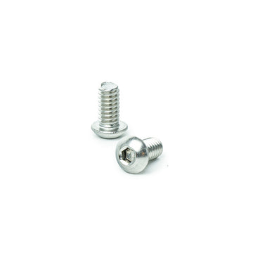 "1/4 - 20 x 1/2"" Button Head Socket Cap Screws, Allen Socket Drive, Stainless Steel 18-8, Full Thread, Bright Finish, Machine Thread"