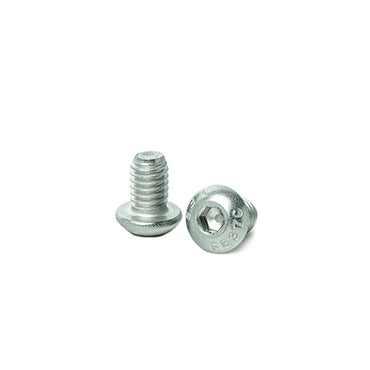 "5/16 x 1/2"" Button Head Socket Cap Screws, Allen Socket Drive, Stainless Steel 18-8, Full Thread, Bright Finish, Machine Thread"