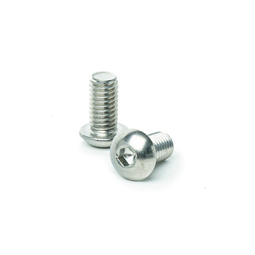 "3/8 x 3/4"" Button Head Socket Cap Screws, Allen Socket Drive, Stainless Steel 18-8, Full Thread, Bright Finish, Machine Thread"