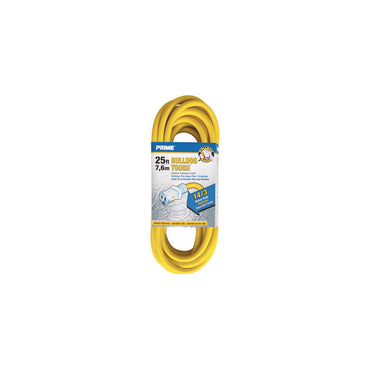 25ft 14/3 SJTOW Yellow Bulldog Tough® Cord w/Primelight® - Bridge Fasteners