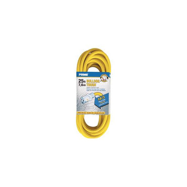 25ft 14/3 SJTOW Yellow Bulldog Tough Õ Â Cord w/Primelight Õ Â - Bridge Fasteners