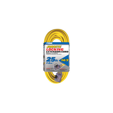 25ft 14/3 SJTW Yellow Cord w/Primelight® & Primelok® - Bridge Fasteners