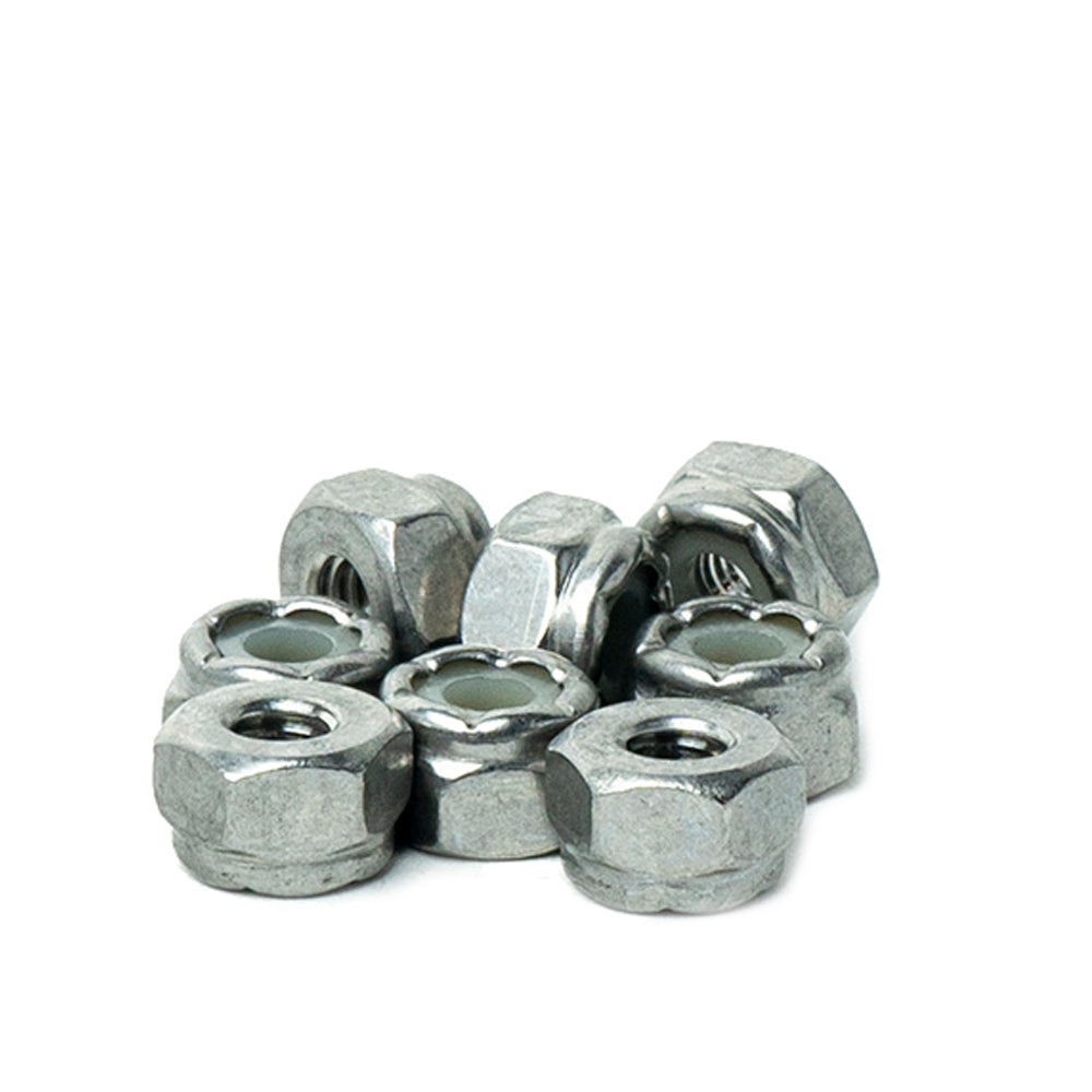 Quantity 100 by Bridge Fasteners Elastic Stop Nuts 1//4-20 Nylon Insert Hex Lock Nuts, Plain Finish Stainless Steel 18-8