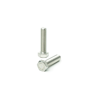 "3/8""-16 x 1 1/2"" Hex Head Tap Bolt Cap Screw, Stainless Steel 18-8, Fully Threaded, Bright Finish, Machine Point"