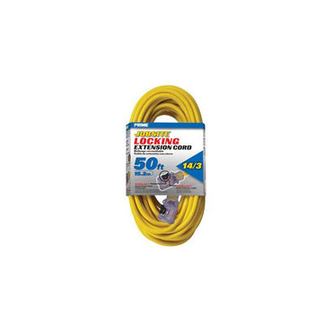 50ft 14/3 SJTW Yellow Cord w/Primelight Õ Â & Primelok Õ Â