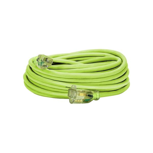 50ft 14/3 SJTW Flexzilla Õ Â Green Outdoor Extension Cord with Green Power Indicator Light