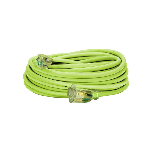50ft 14/3 SJTW Flexzilla® Green Outdoor Extension Cord with Green Power Indicator Light