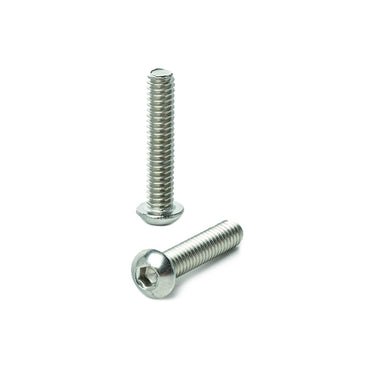 "1/4 - 20 x 1-1/4"" Button Head Socket Cap Screws, Allen Socket Drive, Stainless Steel 18-8, Full Thread, Bright Finish, Machine Thread"