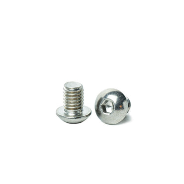 "3/8 x 1/2"" Button Head Socket Cap Screws, Allen Socket Drive, Stainless Steel 18-8, Full Thread, Bright Finish, Machine Thread"