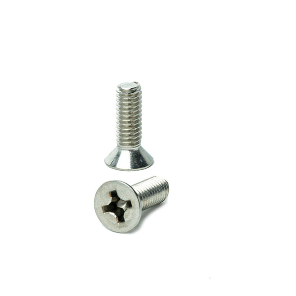 "#8-32 x 3/4"" Flat Head Machine Screws, Phillips Drive, Stainless Steel 18-8, Full Thread, Bright Finish, Machine Thread"