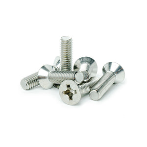 "#8-32 x 1"" Flat Head Machine Screws, Phillips Drive, Stainless Steel 18-8, Full Thread, Bright Finish, Machine Thread"