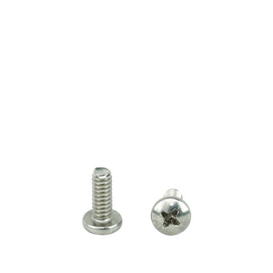 "#6-32 x 5/16"" Pan Head Machine Screws, Phillips Drive, Stainless Steel 18-8, Full Thread, Bright Finish, Machine Thread"