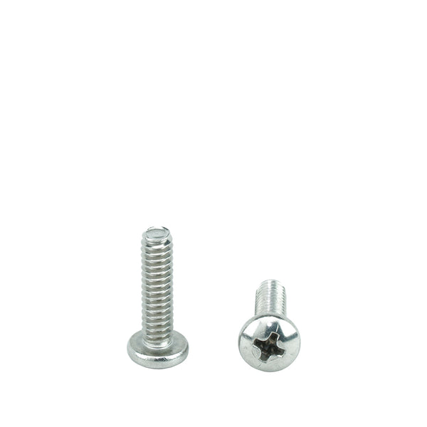 "#10-24 x 5/16"" Pan Head Machine Screws, Phillips Drive, Stainless Steel 18-8, Full Thread, Bright Finish, Machine Thread"