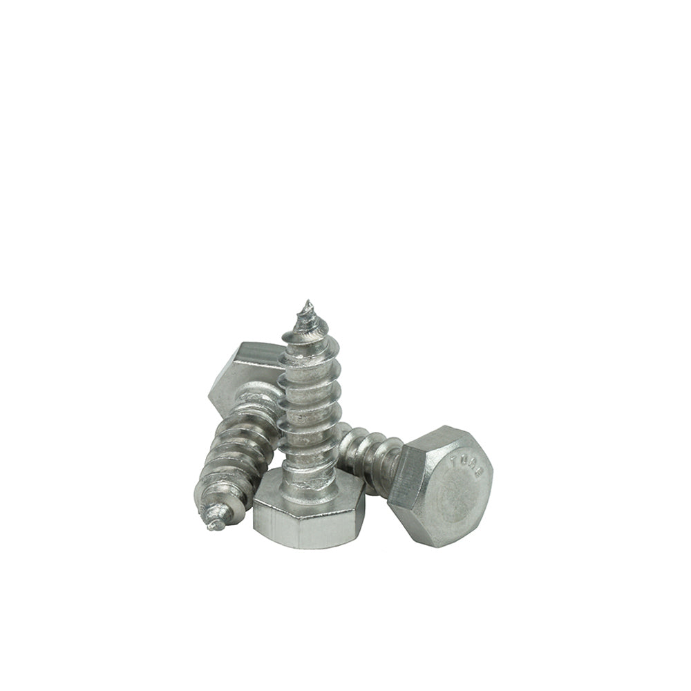 15 pcs Hex Head Lag Screw Bolts 1//2 X 1-1//2 18-8 AISI 304 Stainless Steel