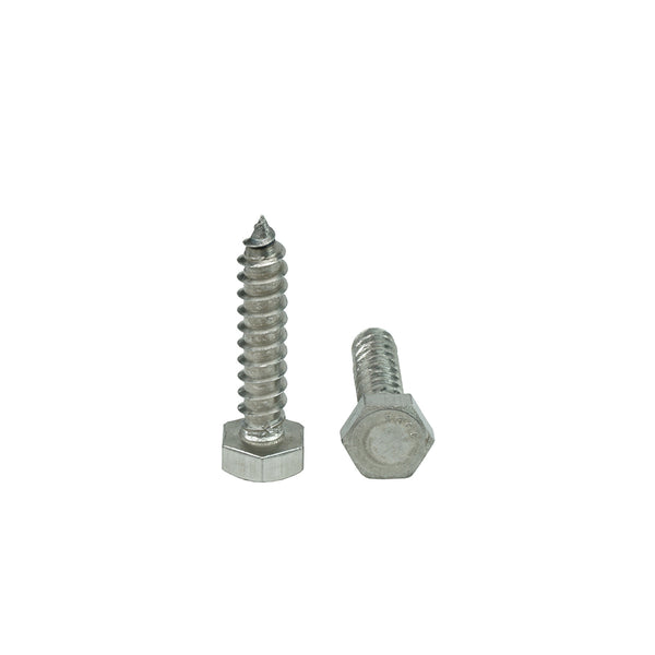 Steel Lag Screw 5//16 Threads 1 Length Hex Head External Hex Drive Zinc Plated Finish Pack of 10