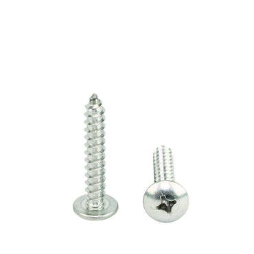 "#14 x 1-1/4"" Truss Head Phillips Sheet Metal Screws Self Tapping,18-8 Stainless Steel, Full Thread, Qty 100"