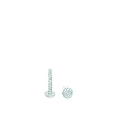 "#8 x 1"" Hex Washer Head Self Drilling Screws, 410 Stainless Steel Self Tapping, Full Thread"