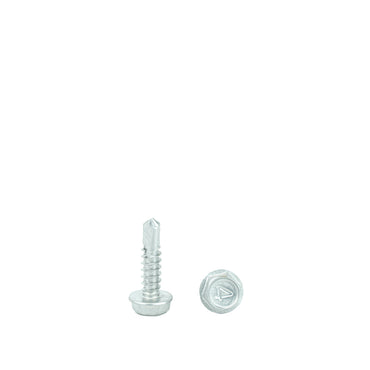 "#10 x 1"" Hex Washer Head Self Drilling Screws, 410 Stainless Steel Self Tapping, Full Thread"