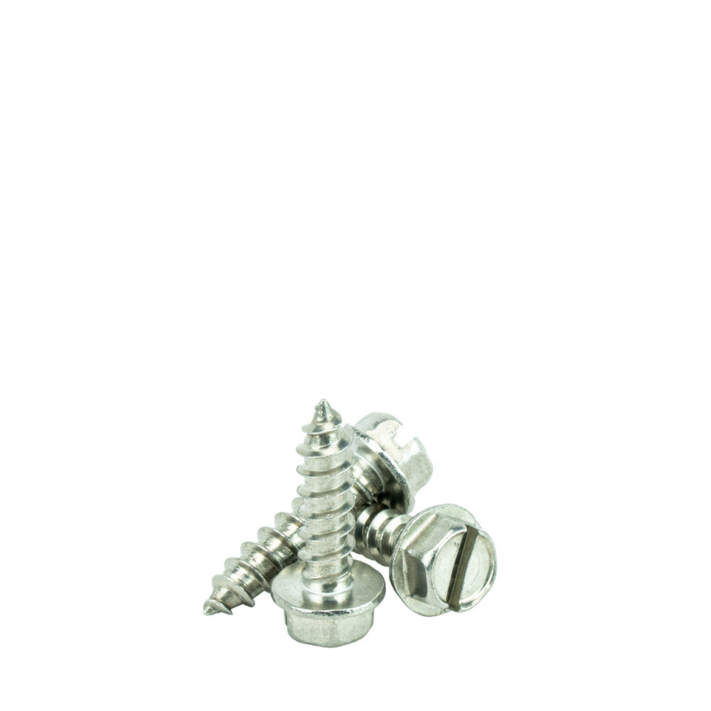 Stainless Steel 18-8 Quantity 100 Pieces By Fastenere Lightning Stainless Self-Tapping #8 x 1//2 Pan Head Sheet Metal Screws Full Thread Square Drive Bright Finish