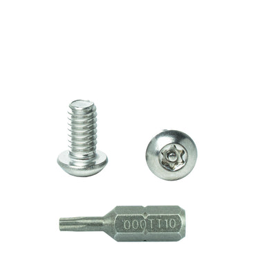 Button Head Torx Machine Screws Stainless Steel Tamper Proof Security Screws with Bit #10-32 x 1 inch Qty 25