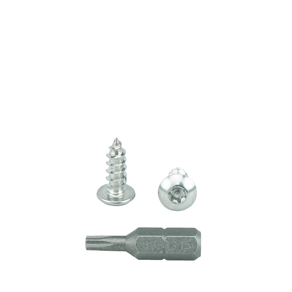 Qty 25 Number 10 Size x 1-1//2 Length By Fastenere Qty 25 Number 10 Size x 1-1//2 Length By Fastenere Lightning Stainless #10 x 1-1//2 Button Head Torx Security Sheet Metal Screws Stainless Steel Tamper Resistant