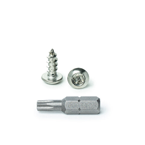 Includes bit #8 x 1-1//2 Button Head Torx Security Sheet Metal Screws 18-8 Stainless Steel Tamper Resistant Qty 25 by Bridge Fasteners