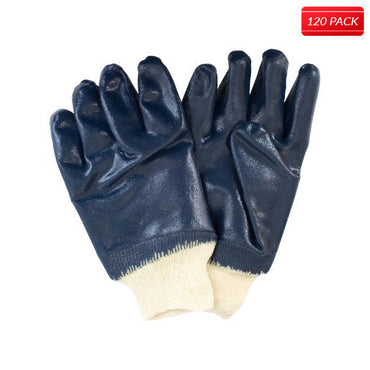 Blue/Natural Coated Jersey Gloves (120 Pairs)