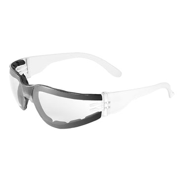 Bullhead BH1151AF Torrent Safety Glasses - Crystal Clear Frame - Clear Lens 12 pack - Bridge Fasteners