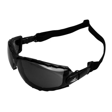 Bullhead BH2033AF CG4 Safety Glasses - Black Frame - Smoke Lens 12 pack - Bridge Fasteners