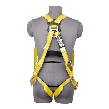 3PT. HARNESS PASS-THRU LEG, BACK/SIDE D-RINGS, YELLOW COLOR - Bridge Fasteners