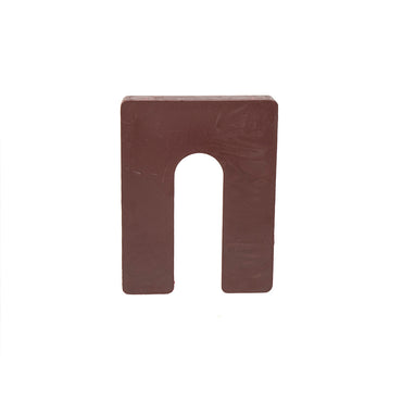 "1/2"" x 3"" x 4"" Plastic Shims Structural Horseshoe U Shaped, Tile Spacers, Brown, 100/250"