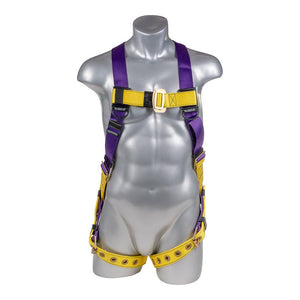 Construction Safety Harness 5 Point w/ Grommet Legs, Back D-Ring - Defender Safety Products