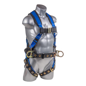 Construction Safety Harness 5 Point, QCB Chest, Grommet Legs, Back
