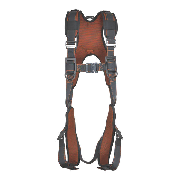 PALMER SAFETY HARNESS 5PT., QCB, PADDED BACK & LEG, BACK D-RING, BLACK COLOR - Bridge Fasteners