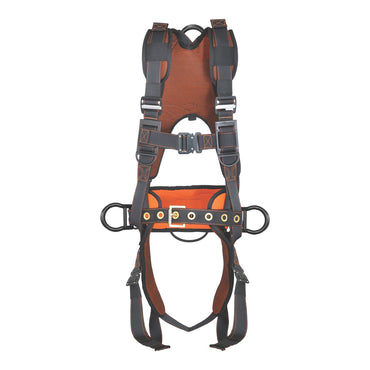 PALMER SAFETY HARNESS 5PT., QCB, PADDED BACK & LEG, BACK D-RING, SIDE D-RING WITH POSITIONING BELT, BLACK COLOR - Bridge Fasteners