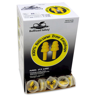 Bullhead HP-S1 Un-corded  Silicone Earplugs - Bridge Fasteners