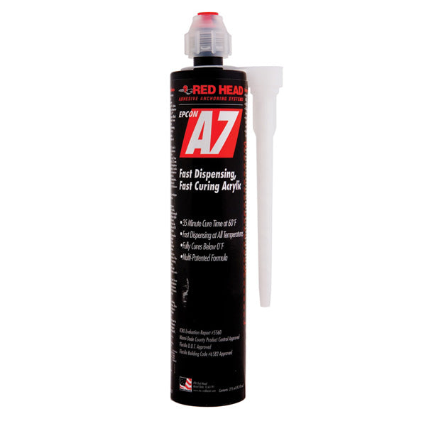 ITW Red Head 10oz A7+ Adhesive Cartridgew/ Mixing Nozzle (A7 Plus) - Bridge Fasteners