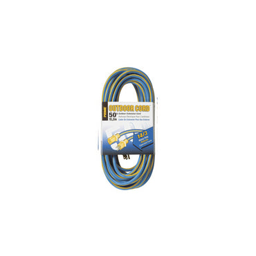 50ft 14/3 SJTW Blue/Yellow Extension Cord (8 per Case)