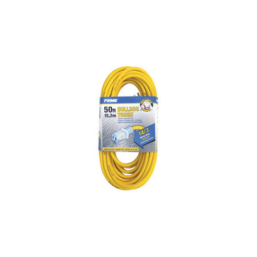 50ft 14/3 SJTOW Yellow Bulldog Tough® Cord w/Primelight®