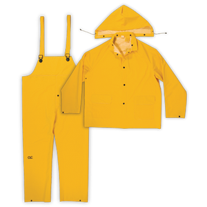 CLC 3 PIECE HEAVYWEIGHT PVC RAIN SUIT CLIMATE GEAR Õ Â - Bridge Fasteners