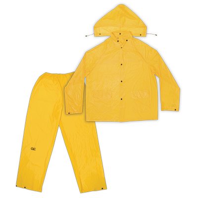 CLC 3 PIECE LIGHTWEIGHT PVC RAIN SUIT CLIMATE GEAR Õ Â - Bridge Fasteners
