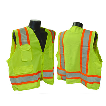 Radians SV6 Two Tone Surveyor Class 2 Vests - Bridge Fasteners