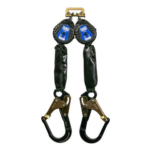 6' Self Retracting Descent Device / Self-Retracting Lifeline with Aluminum Rebar Hook - Defender Safety Products