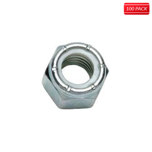 #8 Stainless Steel Lock Nuts (100 Qty.)