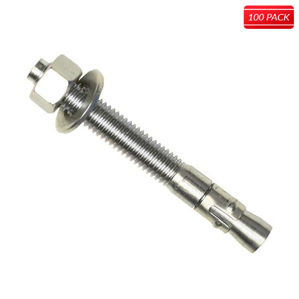 "Wej-IT 1/4 x 2-1/4"" Wej-IT Ankr-TITE Wedge Anchors - 304 Stainless Steel (100 Qty.)"