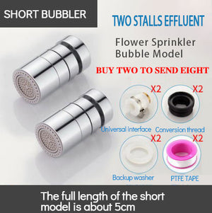 Kitchen faucet bubbler splash head filter outlet nozzle extension extender filter accessories