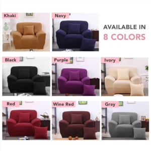 Universal Sofa Cushion Elastic Cover, Anti-Slip Foams, Machine Washable Furniture Protector