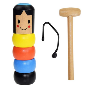 2019 Little Wooden Man Who Cant Beat!Unbreakable Wooden Man Magic Toy!!