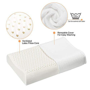Luxury Latex Pillow for Neck Support Pain Relief-Made in USA